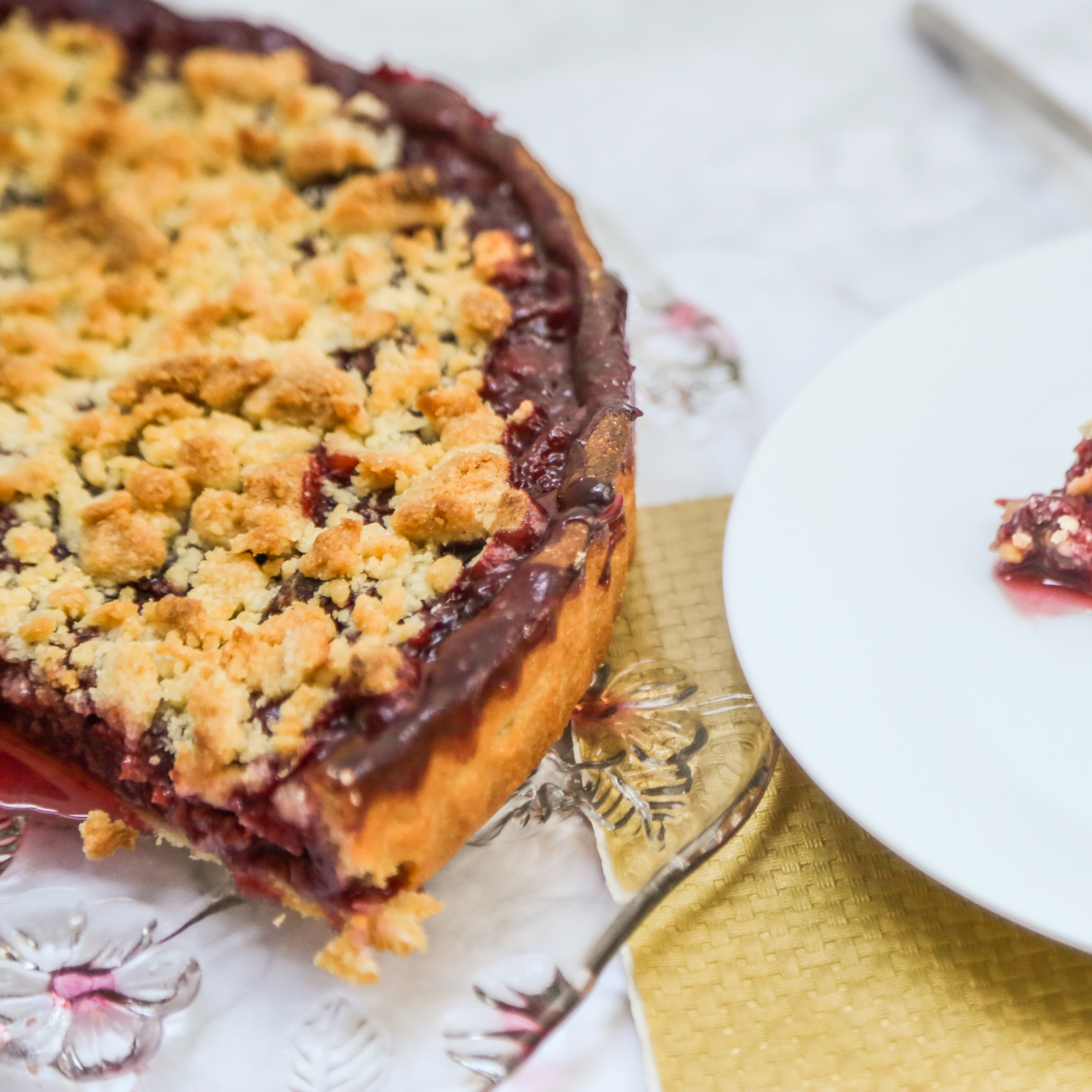 Kirsch-Streusel-Kuchen | kuchengeschichten