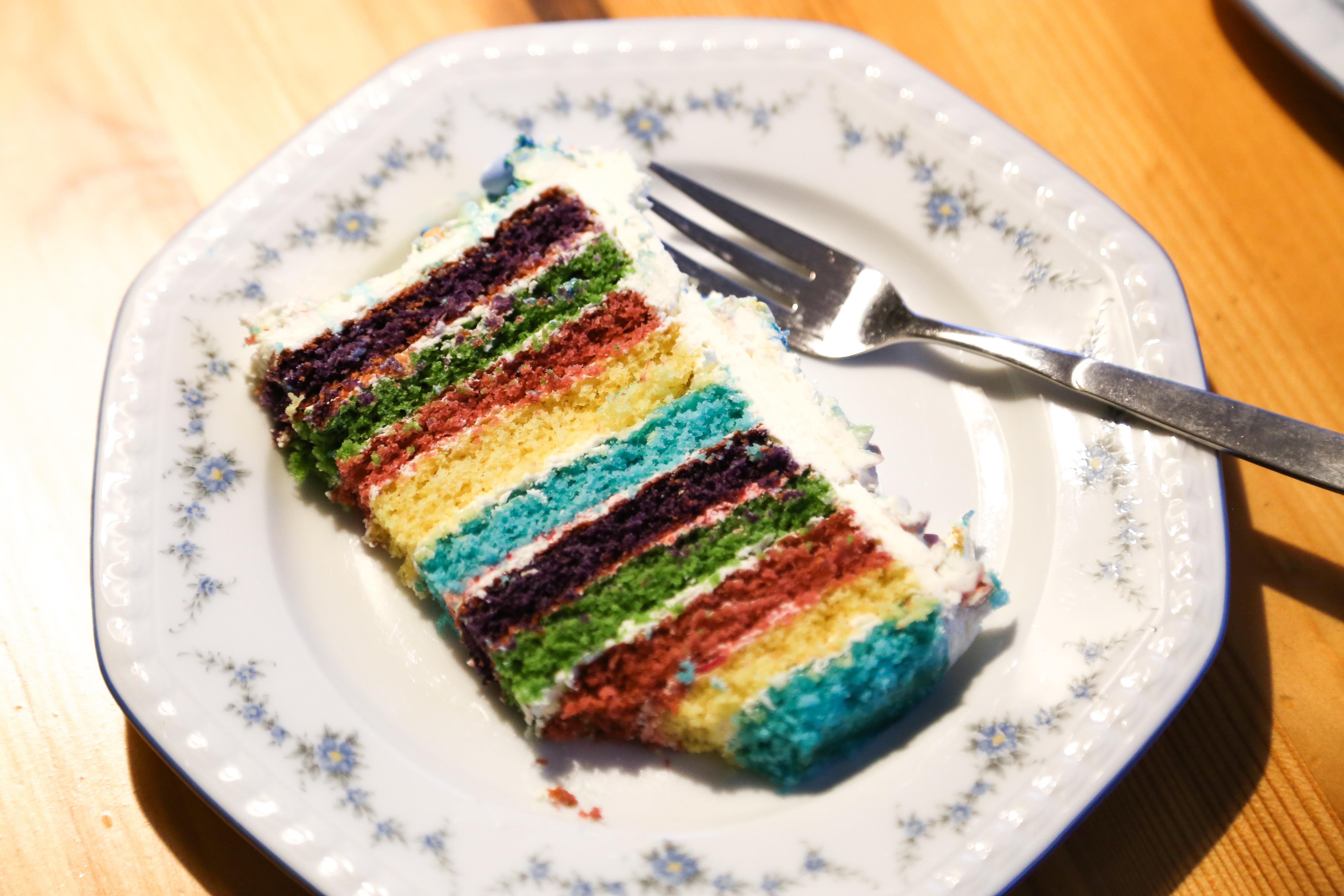 Buttercemetorte-Regenbogen | kuchengeschichten
