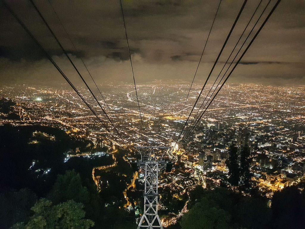 Urlaub in Südamerika Bogota bei Nacht | kuchengeschichten