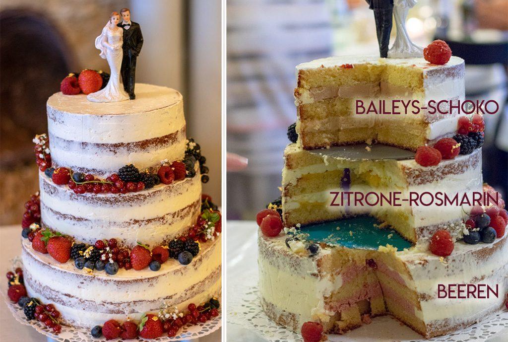 Naked Cake Hochzeitstorte | kuchengeschichten