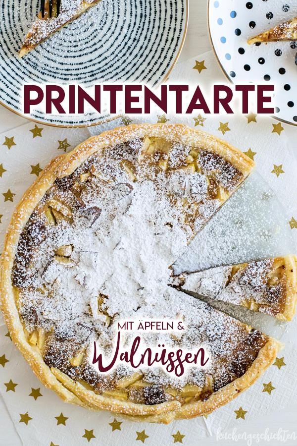 Printentarte mit Äpfeln und Walnüssen. Perfektes Dessert für Weihnachten! | kuchengeschichten