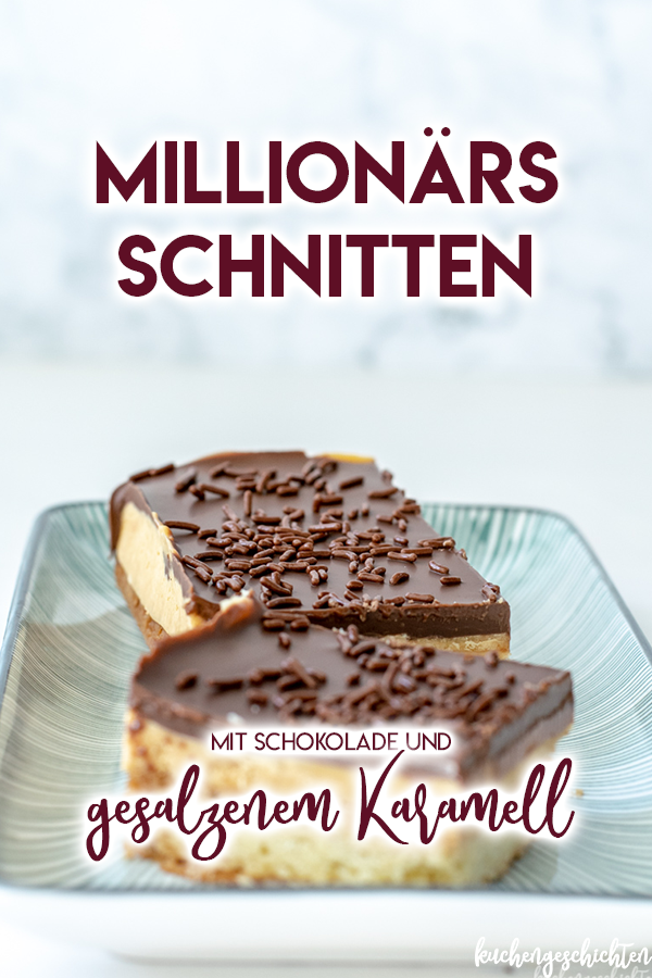 Schoko-Karamell-Schnitten mit gesalzenem Karamell, aka Millionärsschnitten... SO lecker! | kuchengeschichten