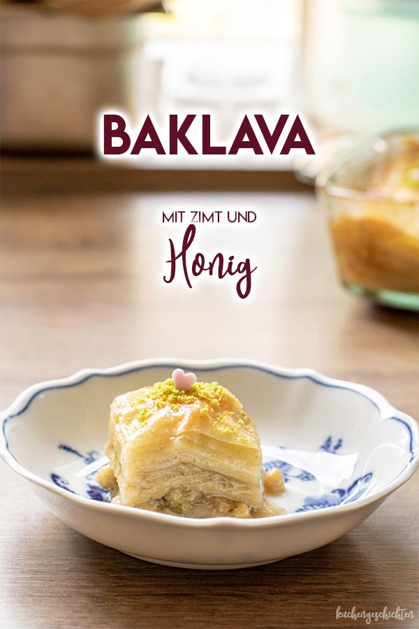 Ein ganz besonderes Dessert: süße, selbstgemachte Baklava. | kuchengeschichten