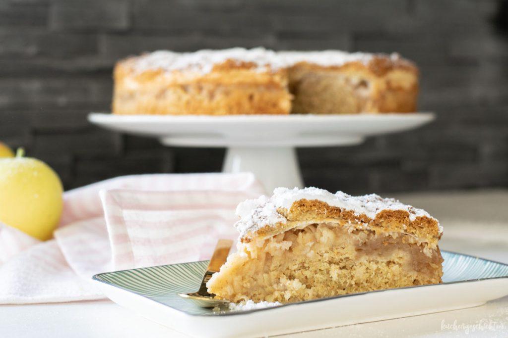 Danziger Apfelkuchen mit gefrorenem Teig | kuchengeschichten