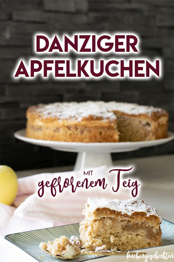 Danziger Apfelkuchen. Süß, saftig, knusprig. Hergestellt aus gefrorenem Teig! Etwas ganz Besonderes, und so, so lecker... Perfekt für gemütliche Herbsttage! | kuchengeschichten