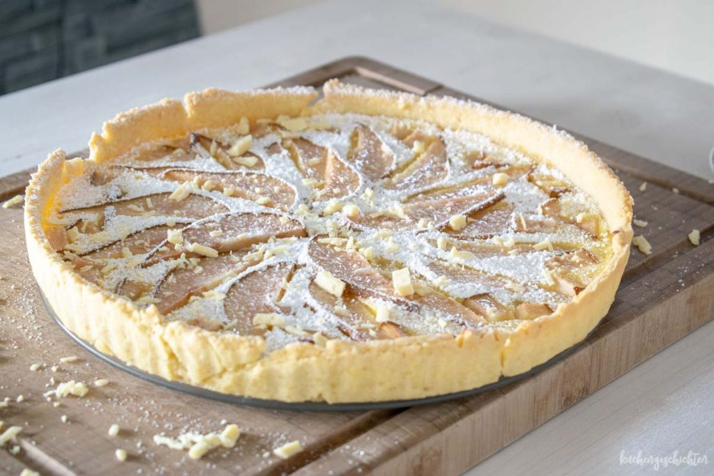 Birnentarte mit weißer Schokolade | kuchengeschichten