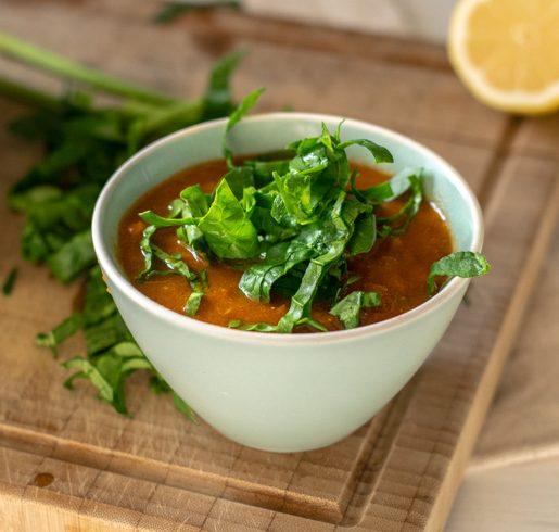 Allerbeste einfache und schnelle vegane Linsensuppe | kuchengeschichten