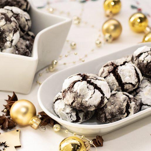 Schoko-Crinkle-Cookies mit Kardamom | kuchengeschichten