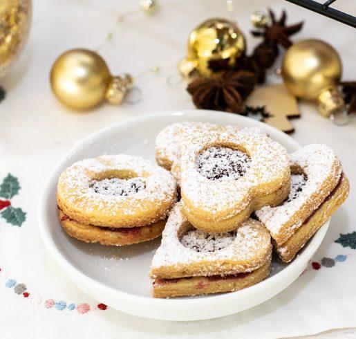 Spitzbuben mit Marmelade Terrassenplätzchen | kuchengeschichten