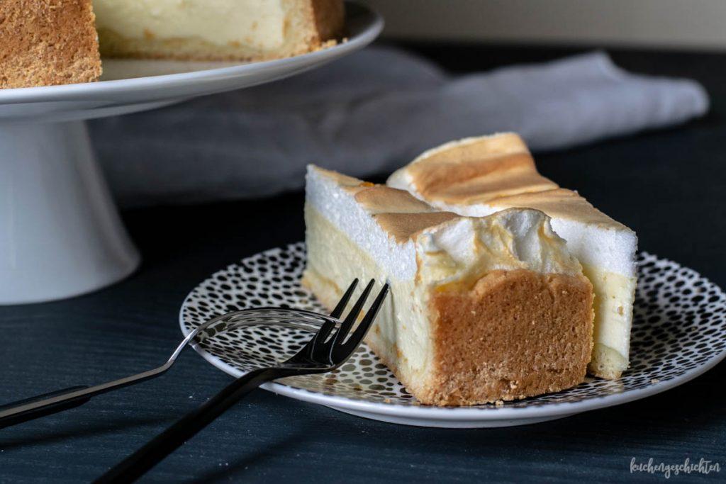 Traenchenkuchen mit Quark und Baiser selbstgemacht | kuchengeschichten