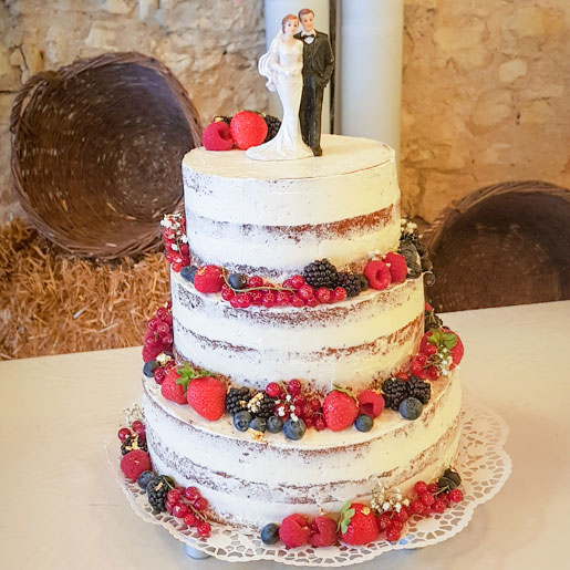 Hochzeitstorte Naked Cake   kuchengeschichten
