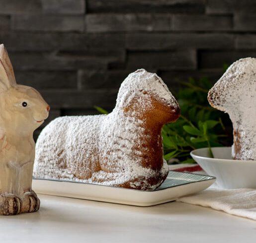 Osterlamm aus Rührteig | kuchengeschichten