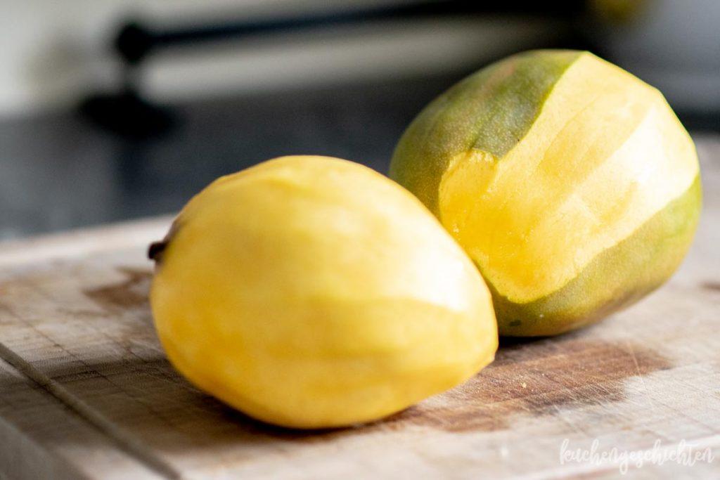 Super erfrischendes Mangosorbet mit und ohne Eismaschine | kuchengeschichten