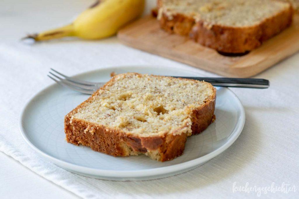 Bananenkuchen mit weisser Schokolade | kuchengeschichten