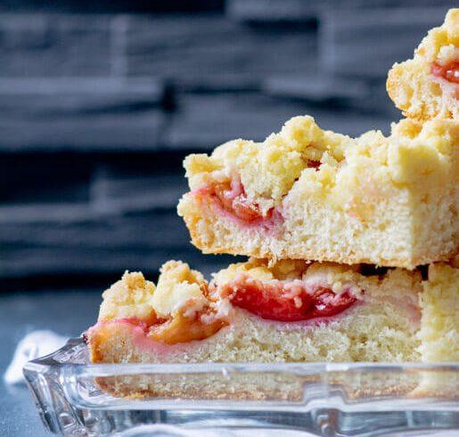 Allerbester Zwetschgenkuchen vom Blech mit Streuseln | kuchengeschichten