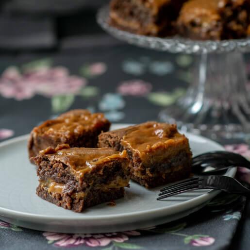 Dulce de Leche Brownies | kuchengeschichten