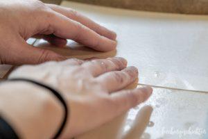 Lebkuchen vom Blech - Oblaten zusammenkleben | kuchengeschichten