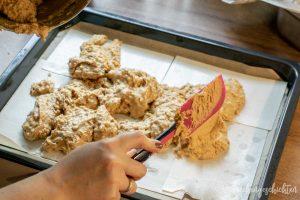 Lebkuchen vom Blech - Teig glatt streichen| kuchengeschichten