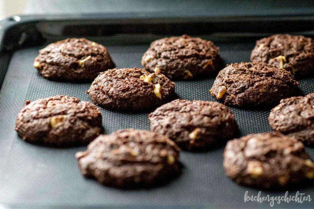 Schoko-Schoko-Cookies | kuchengeschichten