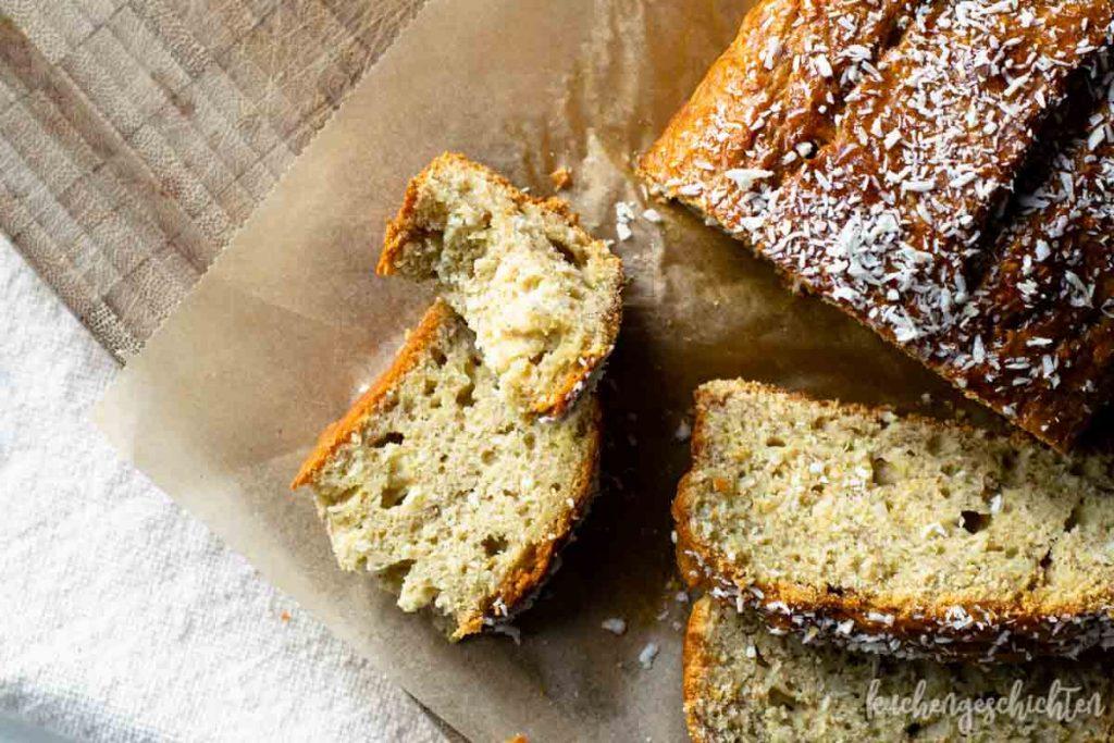 Bananen-Kokos-Kuchen zuckerfrei | kuchengeschichten