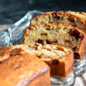 Buttermilch Bananenkuchen mit Schokolade | kuchengeschichten